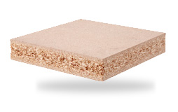 Fire-retardant poplar chipboard